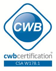 CWB certification - CSA W178.1
